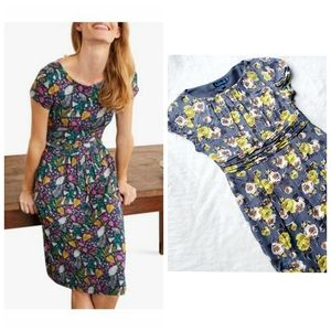 BODEN a line capped sleeve floral dress